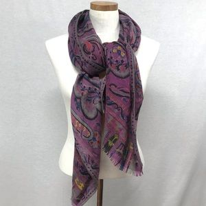 Etro cashmere and silk geometric scarf